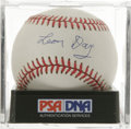 Autographs:Baseballs, Leon Day Single Signed Baseball, PSA Mint 9. The highly-reveredNegro League pitcher Leon Day was considered among his peer...