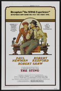 "Movie Posters:Crime, The Sting (Universal, R-1977). One Sheet (27"" X 41""). Crime.Starring Paul Newman, Robert Redford, Robert Shaw and Eileen Br..."