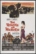 """Movie Posters:Adventure, The Roots of Heaven (20th Century Fox, 1958). One Sheet (27"""" X41""""). Adventure. Starring Errol Flynn, Juliette Greco, Orson ..."""