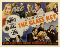 "The Glass Key (Paramount, 1942). Half Sheet (22"" X 28"")"
