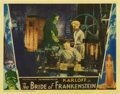 "Movie Posters:Horror, The Bride of Frankenstein (Universal, 1935). Lobby Card (11"" X14"")...."