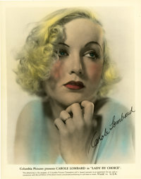 """Carole Lombard in Lady by Choice Color-Glos Publicity Still (Columbia, 1934). Still (8"""" X 10"""")"""