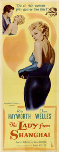 """Movie Posters:Film Noir, The Lady From Shanghai (Columbia, 1947). Insert (14"""" X 36""""). Autographed...."""