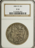 Morgan Dollars: , 1882-CC $1 F12 NGC. NGC Census: (7/9689). PCGS Population (5/21544). Mintage: 1,133,000. Numismedia Wsl. Price for NGC/PCGS...