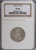 Seated Quarters: , 1876-CC 25C XF40 NGC. NGC Census: (7/184). PCGS Population (6/193).Mintage: 4,944,000. Numismedia Wsl. Price for NGC/PCGS ...