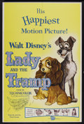 "Movie Posters:Animated, Lady and the Tramp (Buena Vista, R-1962). One Sheet (27"" X 41""). Animated...."