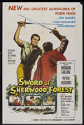 """Movie Posters:Adventure, Sword of Sherwood Forest (Columbia, 1960). One Sheet (27"""" X 41"""").Adventure...."""
