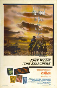 "The Searchers (Warner Brothers, 1956). One Sheet (27"" X 41"")"