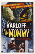"Movie Posters:Horror, The Mummy (Realart, R-1951). One Sheet (27"" X 41"")...."