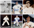 Autographs:Photos, New York Yankees Stars Signed Photographs Lot of 6. A fine halfdozen former stars for the Bronx Bombers have each contribu...
