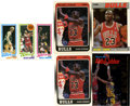 Basketball Cards:Lots, 1980's Basketball Card Collection (5). Includes 1980-81 ToppsBird/Magic rookie card, 1987-88 Fleer #59 Michael Jordan, (2) ...