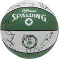 Basketball Collectibles:Balls, 1991-92 Boston Celtics Team Signed Basketball. In what was thelegend Larry Bird's final season of playing at the NBA level,...