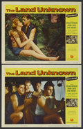 "Movie Posters:Science Fiction, The Land Unknown (Universal, 1957). Lobby Cards (2) (11"" X 14"").Science Fiction.... (Total: 2 Items)"