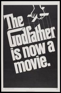 "The Godfather (Paramount, 1972). One Sheet (27"" X 41"") Advance. Crime"