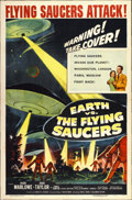 "Movie Posters:Science Fiction, Earth vs. the Flying Saucers (Columbia, 1956). One Sheet (27"" X41"")...."