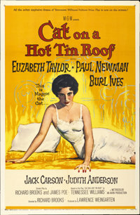 """Cat on a Hot Tin Roof (MGM, 1958). One Sheet (27"""" X 41"""")"""