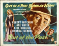 "Movie Posters:Film Noir, Out of the Past (RKO, R-1953). Half Sheet (22"" X 28"")...."