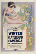 "Movie Posters:Documentary, The Winter Playground of America (Unknown, 1910s). One Sheet (28"" X42"")...."