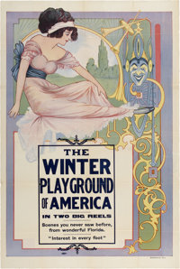"""The Winter Playground of America (Unknown, 1910s). One Sheet (28"""" X 42"""")"""