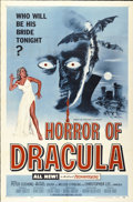 "Movie Posters:Horror, Horror of Dracula (Universal International, 1958). One Sheet (27"" X41"") Blue Version...."