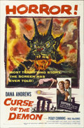 "Movie Posters:Horror, Curse of the Demon (Columbia, 1957). One Sheet (27"" X 41"")...."