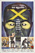 "Movie Posters:Science Fiction, X-The Man With the X-Ray Eyes (American International, 1963). OneSheet (27"" X 41"")...."