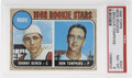 Baseball Cards:Singles (1960-1969), 1968 Topps Reds Rookies (Johnny Bench) #247 PSA NM-MT 8. Importantrookie card of the popular backstop Johnny Bench remains...