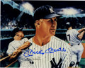 "Autographs:Photos, Mickey Mantle Signed Print. Attractive 8x10"" print created from theart of Robert Stephen Simon focuses on the New York Yan..."