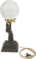 Baseball Collectibles:Others, 1876 Hartford Club Baseball Lamp. A tremendous vintage find of thehighest order, this lamp with baseball figurine was crea...