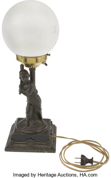 baseball collectiblesothers 1876 hartford club baseball lamp a tremendous vintage find of - Baseball Lamp
