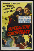 """Movie Posters:Mystery, Operation Conspiracy (Republic, 1957). One Sheet (27"""" X 41""""). Also known as Cloak Without Dagger. Mystery...."""