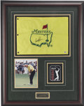 Golf Collectibles:Autographs, Arnold Palmer Signed Masters Flag Display. Hailed in the golf worldas one of the trailblazers of the game and regarded amo...