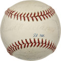 Autographs:Baseballs, 1972 Texas Rangers Team Signed Baseball. In their inaugural seasonin Texas after moving the franchise from Washington D.C.,...