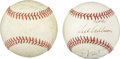Autographs:Baseballs, Stars Multi-Signed Baseballs Lot of 2. Consisting mainly of formerPhiladelphia Phillies stars, each of the official orbs h...