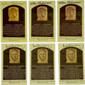 Autographs:Post Cards, Chas Gehringer and Hank Greenberg Signed Gold Hall of Fame PlaquesLot of 6. Each of the featured former stars of the Detro...