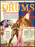 "Movie Posters:Adventure, Drums (United Artists, 1938). Herald (8.75"" X 11.75"").Adventure...."