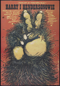 """Harry and the Hendersons (Universal, 1987). Polish One Sheet (26.25"""" X 38""""). Comedy"""