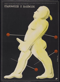 """The Witches of Eastwick (Warner Brothers, 1987). Polish One Sheet (26.5"""" X 36.5""""). Drama"""