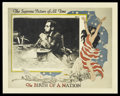 "Movie Posters:Drama, The Birth of a Nation (David W. Griffith Corp., R-1920s). LobbyCard (11"" X 14""). Drama...."