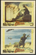 "Movie Posters:Science Fiction, Godzilla (Trans World, 1956). Lobby Cards (2) (11"" X 14""). ScienceFiction.... (Total: 2 Items)"
