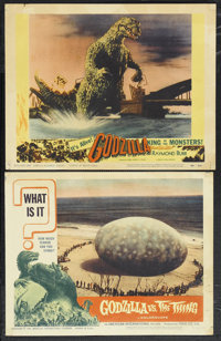 "Godzilla Lot (Trans World, 1956). Lobby Cards (2) (11"" X 14""). Science Fiction.... (Total: 2 Items)"