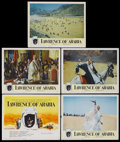 "Movie Posters:Academy Award Winner, Lawrence of Arabia (Columbia, 1962). Title Lobby Card and LobbyCards (4) (11"" X 14""). Academy Award Winner...."