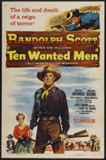 "Movie Posters:Action, Ten Wanted Men (Columbia, 1954). One Sheet (27"" X 41""). Action...."