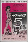 "Movie Posters:War, Warriors Five (American International, 1962). One Sheet (27"" X41""). War...."