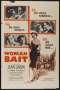 "Movie Posters:Mystery, Woman Bait (Lopert, 1957). One Sheet (27"" X 40.5""). Mystery...."