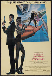 "A View to a Kill (United Artists, 1985). Arabic One Sheet (26.5"" X 39""). James Bond"