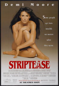 """Striptease Lot (Columbia, 1996). One Sheet (27"""" X 40"""") SS and Autographed Program (9"""" X 12""""). Comedy..."""