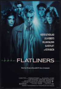 """Flatliners (Columbia, 1990). One Sheet (27"""" X 40"""") SS and Autographed Still (8"""" X 10""""). Thriller..."""