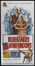 "Movie Posters:Mystery, Bluebeard's Ten Honeymoons (Allied Artists, 1960). Three Sheet (41""X 81""). Mystery...."