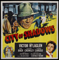 "Movie Posters:Crime, City of Shadows (Republic, 1955). Six Sheet (81"" X 81""). Crime...."